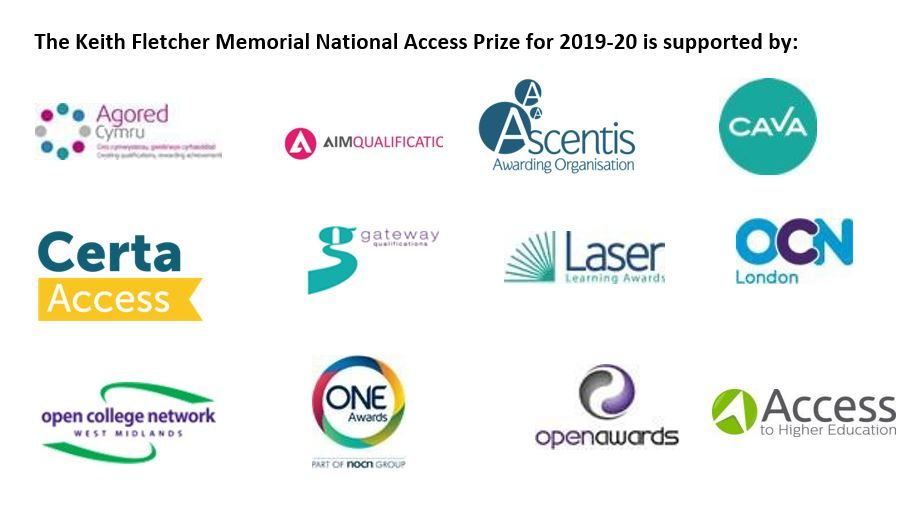 Keith Fletcher Memorial Access to HE Student Prizes 2019-20