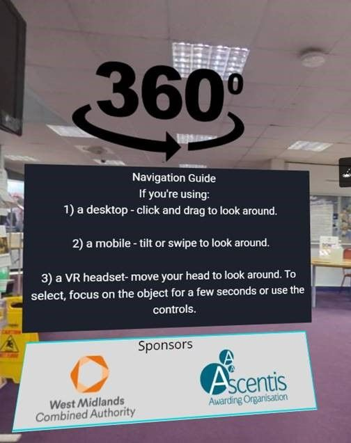 Supporting Virtual Reality Assessments with City of Wolverhampton College